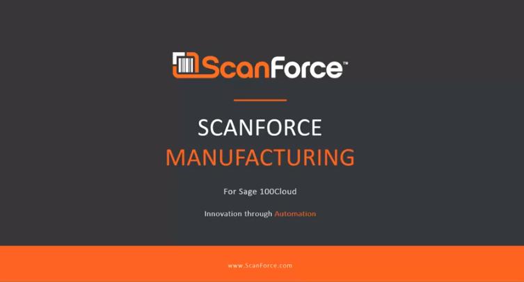 Sage 100 manufacturing